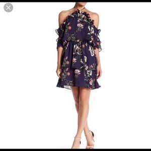 Parker - Floral Ruffle Halter Dress